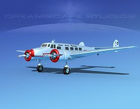 3D model Lockheed L10 Electra LAN Chile