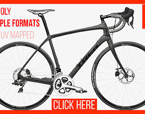 3D model VR / AR ready Bike Bicycle Trek Domane