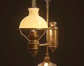 Antique Oil Lamp - PBR Game Ready 3D model