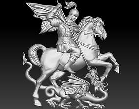 3D print model Saint George and the Dragon