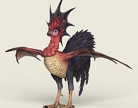 3D asset Game Ready Fantasy Rooster