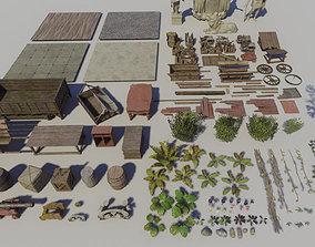 3D model Jungle Vegetation and Props Pack UE4