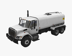 3D model Tanker Truck International 7400
