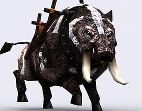 animated realtime 3DRT - Fantasy Mount Boar