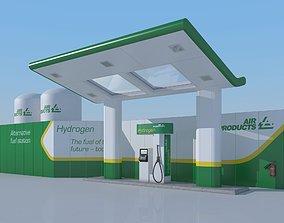 3D model Hydrogen gas station