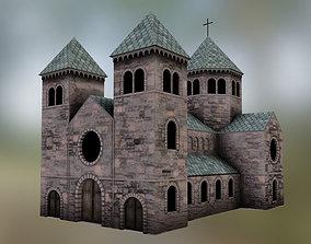 3D asset Medieval Cathedral