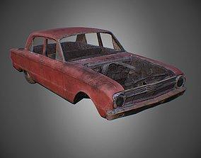 Car Wreck PBR Game Asset realtime