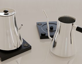 3D asset Contemporary colourful kettle2-silver