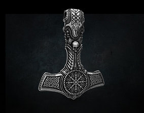 THOR Hammer Pendant STL 3D print 3D model for