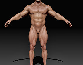 Strong Man Body Complete Zbrush Project 3D model