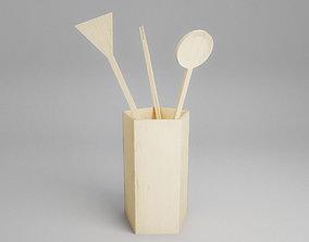 Set of kitchen utensils 3D