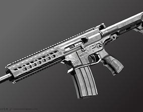 Double Barrel Rifle - Snake 3D asset