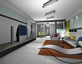 sofas 3D TV Lounge