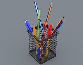 Office Pencil Cup 3D asset