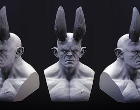 Demon Bust 3D Print