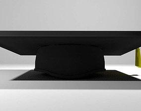 Hat - Mortarboard 3D