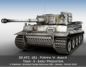 3D Panzer VI - Tiger - 5 - Early Production