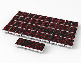 electronics LED dot matrix display modules 3D model