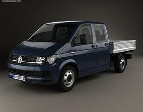 Volkswagen Transporter T6 Double Cab Pickup 2016 3D model