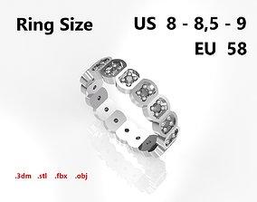Model 78 Facet Oval Pave Ring Modern 18 Diamond US Size