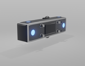Spaceship Game Redy Low-poly 3D model VR / AR ready