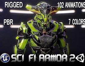 3D asset Sci-Fi Armor 2