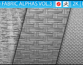 3D 10 Fabric Alphas Vol 3 for ZBrush and Substance