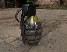 Grenade Game Ready Model UE4 UNITY CRYENGINE low 3D asset