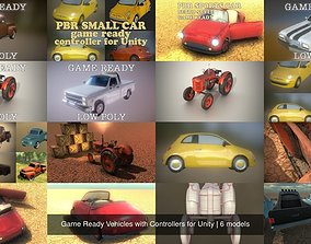 3D Game Ready Vehicles with Controllers for