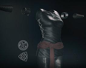 3D asset VR / AR ready Female Ninja Outfit 1