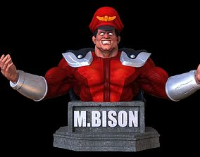 3D printable model M Bison bust