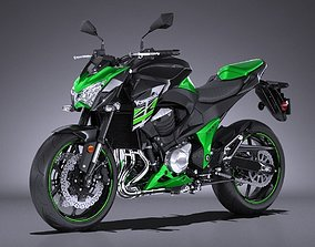 3D model Kawasaki Z 800 2017