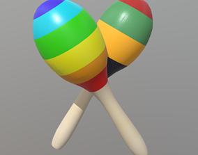3D model Maracas