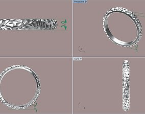 Texture band Engagement band 3D printable model