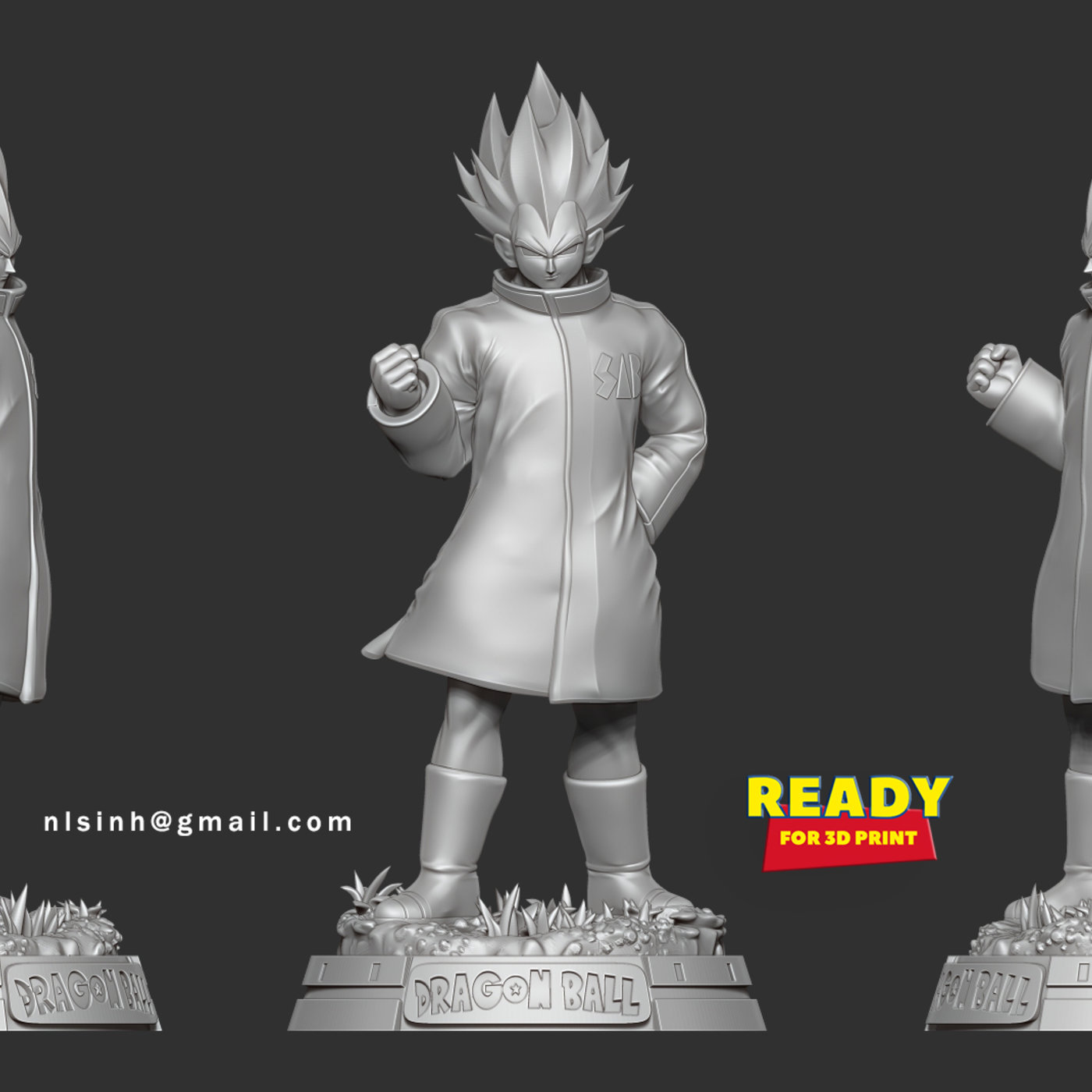 Vegeta In A Green Coat
