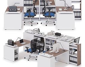 Office workspace LAS LOGIC v7 3D model