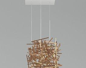 3D model Ridgely Studio Criss Cross Chandelier