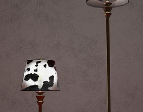 Cow Hide Lamps 3D asset