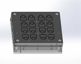 Hot runner mold-injection mold-Press 3D printable model