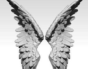 3D print model Realistic Wings pair Angel Bird Statue