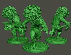 Humanoid virus 0010 3D print model