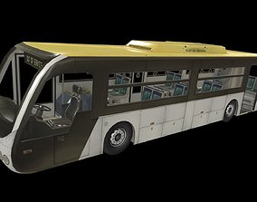 Airport Bus 3D model game-ready