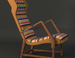 3D Rare Italian lounge chair
