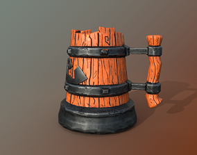 Stylized Mug LP 3D model