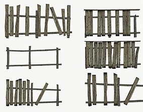 The old fence 3D model