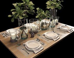 Table setting 3D model VR / AR ready