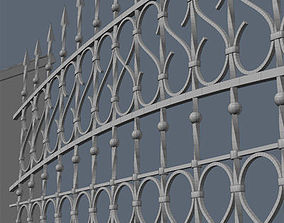 Fence for exterior visualization architecture 3D