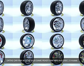 ORTAS CAR RIM 16-17-18-19-20 GAME READY RIM 3D model 2