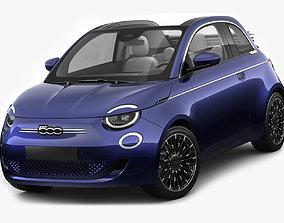3D model Fiat 500 cabrio 2021 La Prima