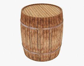 3D model low-poly whiskey barrel